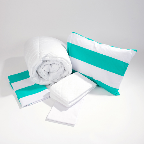 Bedding-store-green-stripe